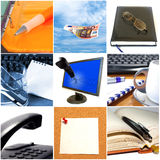 Group of business objects stock image