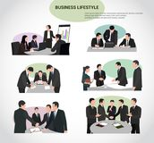 A group of business and office people at the table. Business and office people working in a team Royalty Free Stock Images