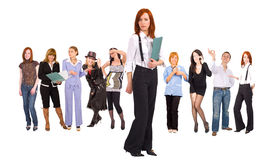 Group of business oriented people Royalty Free Stock Photo