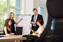 Group of business partners to discuss, speak at the meeting. Royalty Free Stock Photos