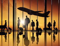 Group Of Business Peoeple In The Airport Royalty Free Stock Photography