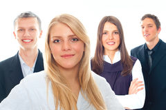 Group of business people. Smiling - isolated over a white background Stock Photos