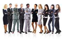 Group of business people. On a white background Royalty Free Stock Images