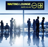 Group of Business People in the Airport Stock Photography