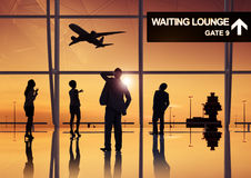 Group of Business People in the Airport Royalty Free Stock Photos