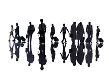 Group of Business People in the Airport Royalty Free Stock Images