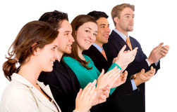 Group of business people appla Stock Images