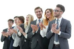 Group of business people applauding isolated. Success concept Royalty Free Stock Image