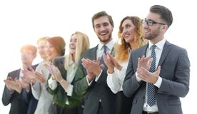 Group of business people applauding isolated. Success concept royalty free stock photos