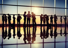 Group of Business People Back Lit Royalty Free Stock Image