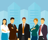 Group of business people on a background a megalopolis Royalty Free Stock Photography