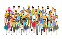 Group of Business People Big Crowd Businesspeople Mix Ethnic Diverse. Flat Vector Illustration Stock Photo