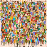 Group of Business People Big Crowd Businesspeople Mix Ethnic Diverse. Flat Vector Illustration Royalty Free Stock Photos