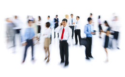 Group of Business People in Blurred Motion Stock Photo