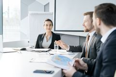 Group of Business People in Board Room royalty free stock photography
