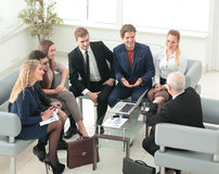 Group of business people brainstorming together in the meeting r Royalty Free Stock Photo