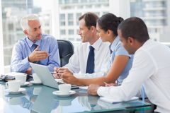 Group of business people brainstorming together Royalty Free Stock Images