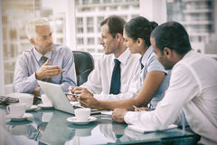 Group of business people brainstorming together. In the meeting room Stock Photo