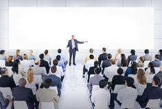 Group of Business People in Business Presentation Royalty Free Stock Photo