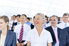 Group of Business People in Business Presentation Stock Photo