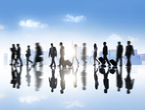 Group of Business People with Business Travel Concept Royalty Free Stock Photography