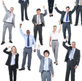 Group of business people celebrating Royalty Free Stock Photos