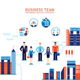 Group of business people on city background Teamwork Success concept Stock Photo