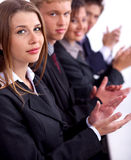Group of business people clapping stock photography