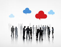 Group of Business People Cloud Computing Stock Images