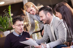Group of business people in coffee shop Stock Photography
