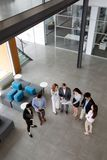 Group of business people collaborating in office Royalty Free Stock Image