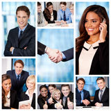 Group of business people, collage. stock photos