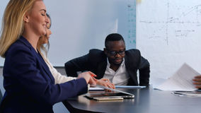 Group of business people coming to office on meeting Stock Photo