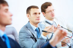 At seminar or conference Royalty Free Stock Image