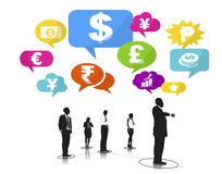 Group of Business People with Currency Symbols Royalty Free Stock Image