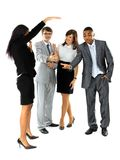 Group of business people discussed about Stock Photos