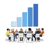 Group of Business People Discussing About Business Growth Stock Photography
