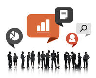 Group of Business People Discussing Business Issues Royalty Free Stock Photos