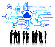 Group of Business People Discussing Cloud Computing Royalty Free Stock Image