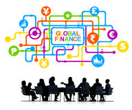 Group of Business People Discussing About Global Finance Stock Photo