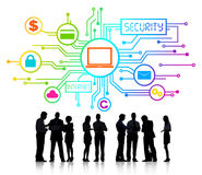 Group of Business People Discussing Network Security Stock Image