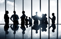 Group Of Business People Discussing Planning Team Concept royalty free stock photo
