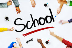 Group Business People Discussing About School Concept Royalty Free Stock Photos
