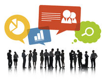 Group of Business People Discussing Social Network Royalty Free Stock Photos