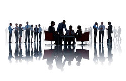 Group Of Business People Discussing In A White Background Royalty Free Stock Photo