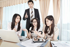 Group of business people discussion stock photos