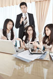 Group of business people discussion Stock Image