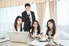 Group of business people discussion Royalty Free Stock Photography