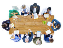 Group of Business People and Doctors in a Meeting Stock Photos