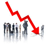 Group Business People on Economic Crisis Concept Stock Photos